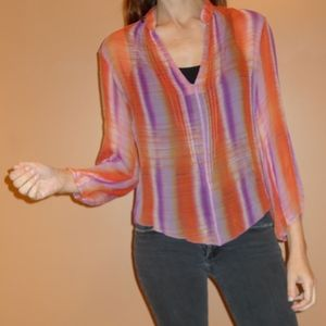 Beautiful free people like chiffon vintage blouse